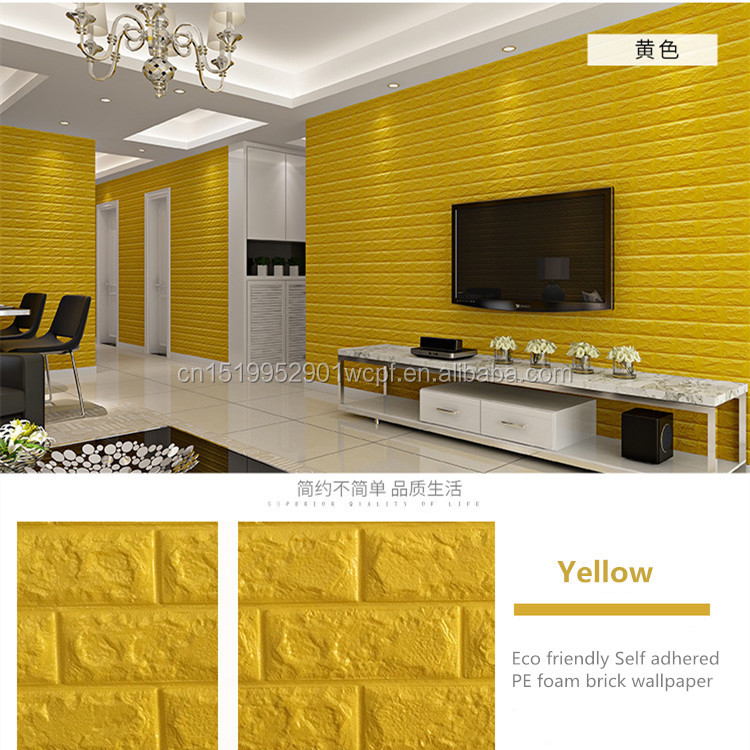 brick sound-proof PE wallpaper,PE foam <strong>wall</strong> panel 3d wallpaper for <strong>walls</strong>
