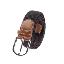Hot selling wholesale custom woven elastic mens braided belts