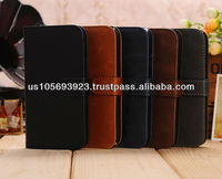 Luxury Credit card holder Stand Leather Case Cover For Sumsung Galaxy S4/I9500 Paypal Accepted