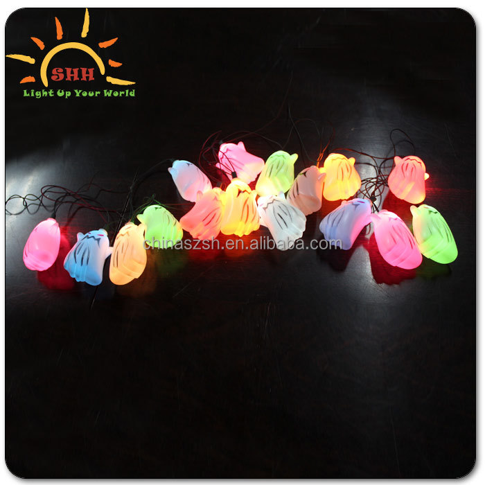 2016 Halloween favor decoration led light up string lights for pumpkin/ghost/eyeball shape