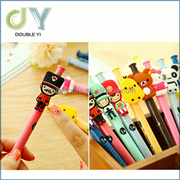 Eco-friendly cartoon characters plastic ball point pen