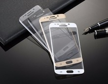 Wholesale portable 9H 3D full curved mobile phone tempered glass screen protector for samsung s7 edge