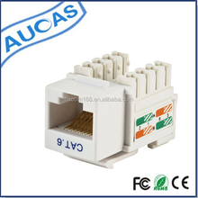tooless 110 type cat5e PunchDown Keystone Jack / AMP 90 degree Cat6 RJ45 modular Jack