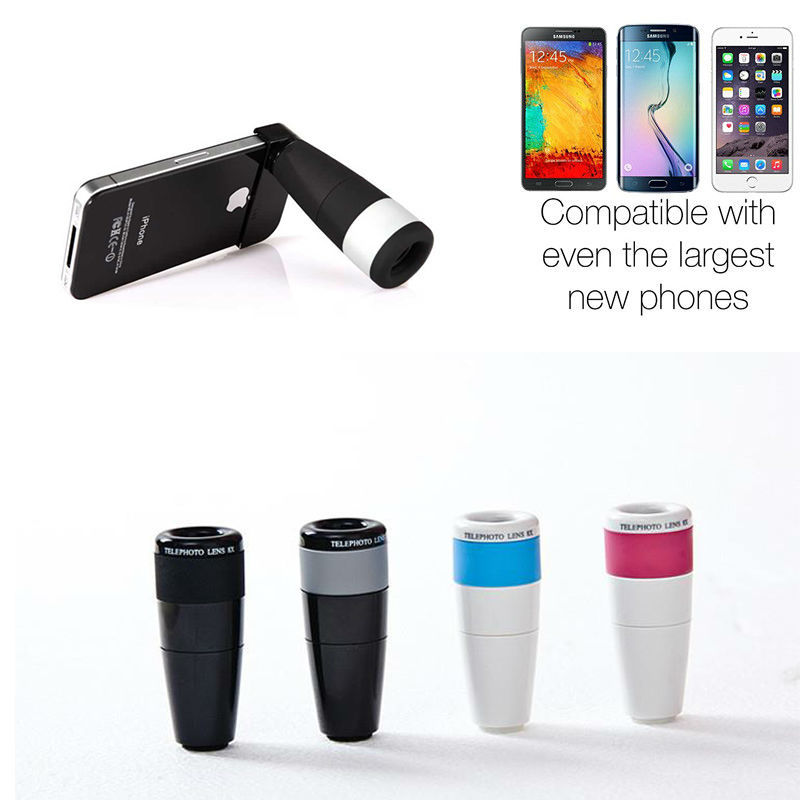 China New design 8X telephoto Zoom Lens with universal holder hot sale in usa market