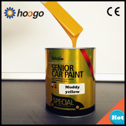 Yaopai solid color yellow 2K auto paint colors