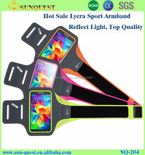 Universal Running Sports Armband For iphone4/5/samsung S3/S4/Note1/Note2 Black Gym Phone Bag Case