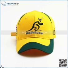 6 Panel Fashion Kangaroo Yellow Wholesale Custom Flexible Cap