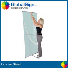 L frame banner stand