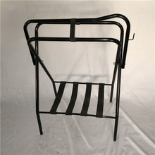 Floor-type Folding Saddle Rack With Black Nylon Straps