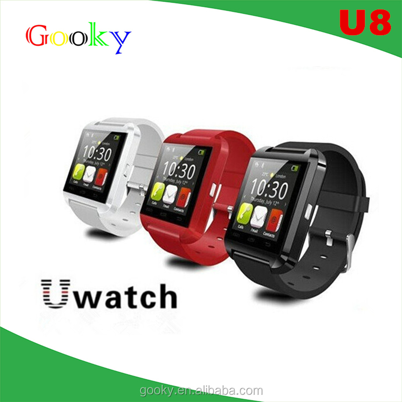 2016 online shopping silicon watch wholesale watch phone bluetooth u8 smart watch