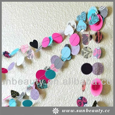 Latest Design Available Popular Circle Paper Garland Decoration