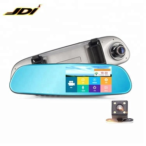 1080P HD Rearview Mirror Reverse 5.0 InchTouch Screen Dual Camera Premium Car DVR