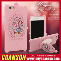 Fancy TPU Mobile Phone Cover Case With Mirror For Samsung Galaxy J7