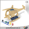 Solar Helicopter 3D Wooden Puzzle Toys