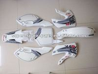 white cheap china plastic dirt bike body kits