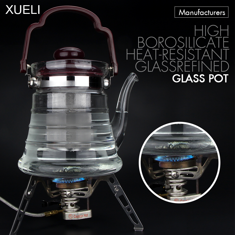 800ml/1300ml/1800ml tea coffee kettle Heat-resistant Glass tea water pot