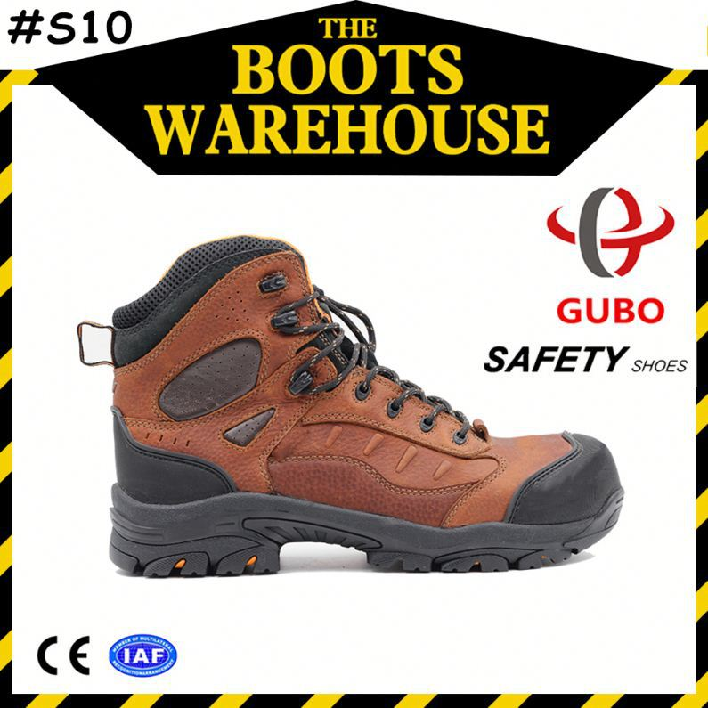 kevlar sole buffalo crazy horse leather safety shoes