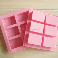 wholesale custom made 100ml each soapDIY 6 rectangle square silicone soap molds