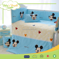 BBS014 home knitted comforter laces bedding sets, mickey mouse bedding sets