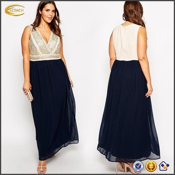 wholesale Wrap Over Embellished Maxi Dress party club prom evening dress for fat women