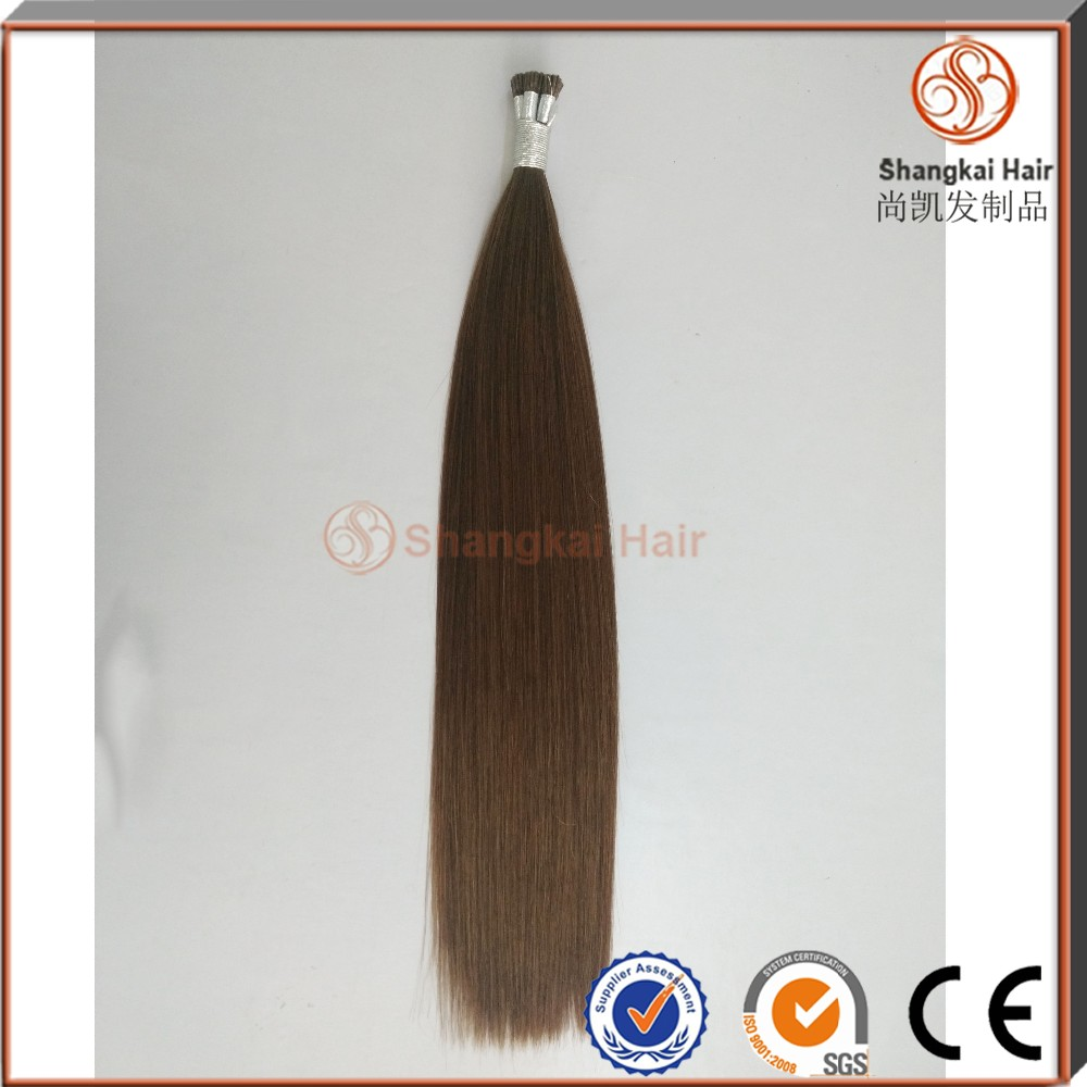 Beat quality vrigin remy hair extension European Hair There is no hair don't tie Double drawn Mini I tip hair extension