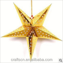 3D star lanterns hanging paper lampshade in malls