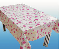 WF-4264 Vinyl tablecloth with non-woven/fannel backing