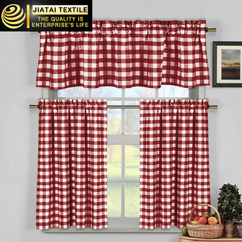 Cheap Kitchen Curtains Online Custom Grid Country Kitchen Drapes
