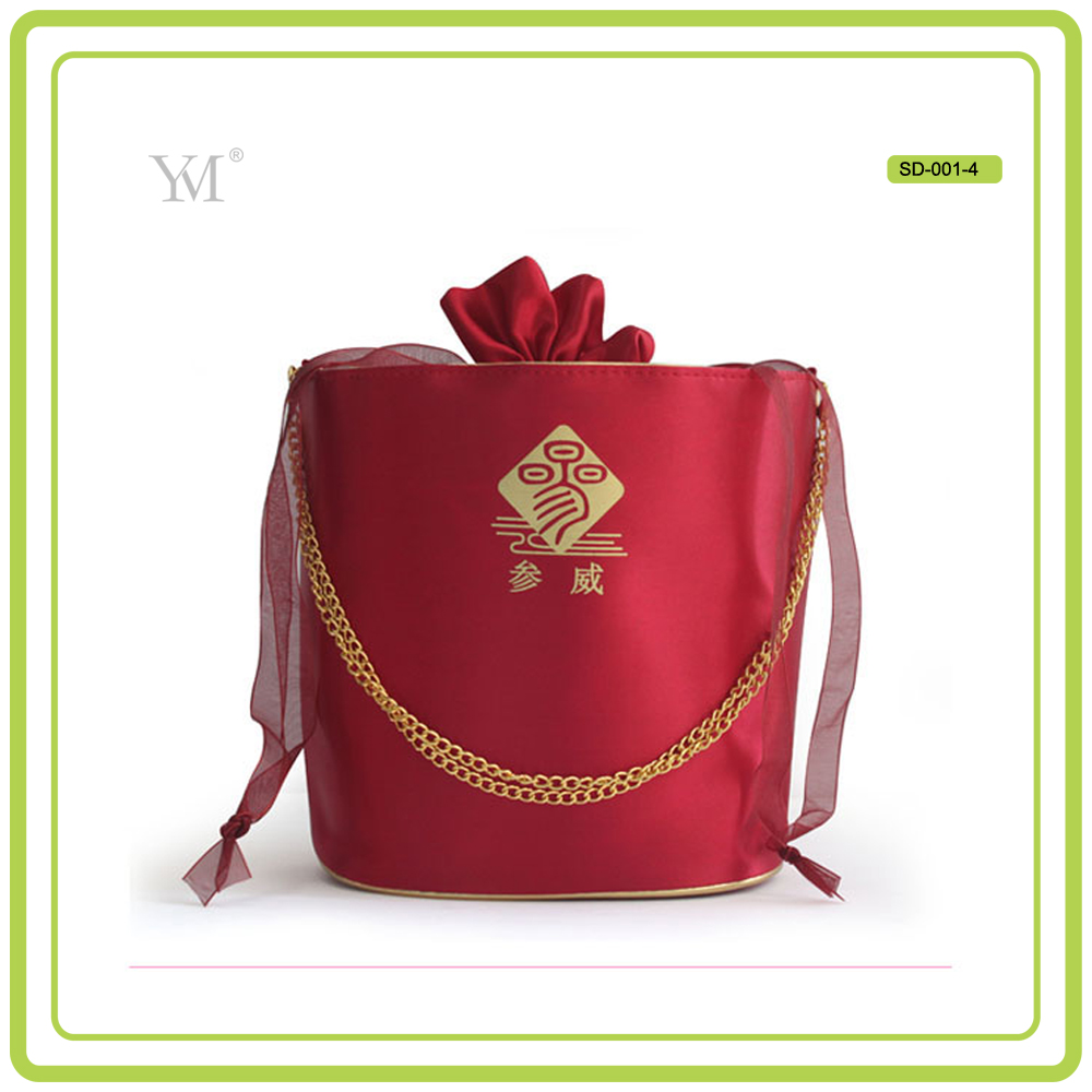 lady fashion satin material guangzhou bag factory drawstring cosmetic bags cosmetic satin bag