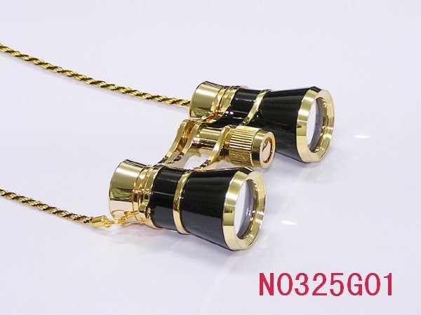 plated golden or silver 3*25 with handle opera binocular