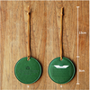 Green Fashionable promotional customized blank round leather pu luggage tag for traveling