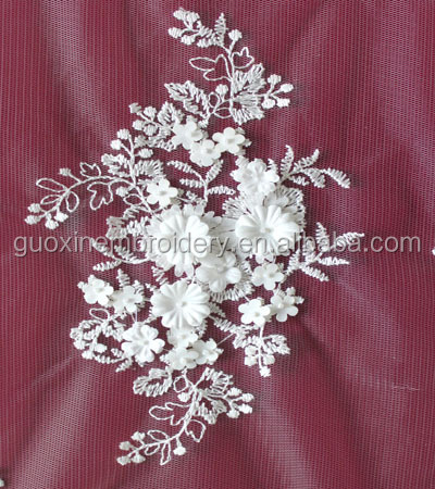 2015 elegant wedding dress accessories 3D flower bridal soft tulle lace