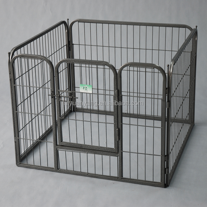 outdoor eight panels black heavy duty metal puppy dog fence