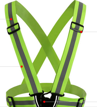 adjustable reflective safety vest strap with high light reflective tape