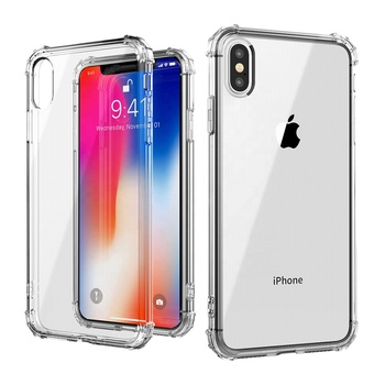 For Iphone Xs 5.8, Xs Max 6.5, Xr 6.1 360 Degree Shock Proof Case Military Grade TPU Clear Phone Case for Iphone X 4.7 inch