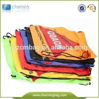 Outdoor sport gym sack bag,drawstring bag polyester fabric bag