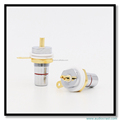 8pcs Rhodium+ Gold Plated RCA Socket Female RCA Jack connector chassis socket amp