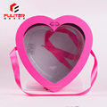 Waterproof pink heart shaped bouquet gift packaging box flowers