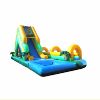 Giant inflatable slip n slide water slide with water pool,inflatable sufing slide,6m high water slide F4028