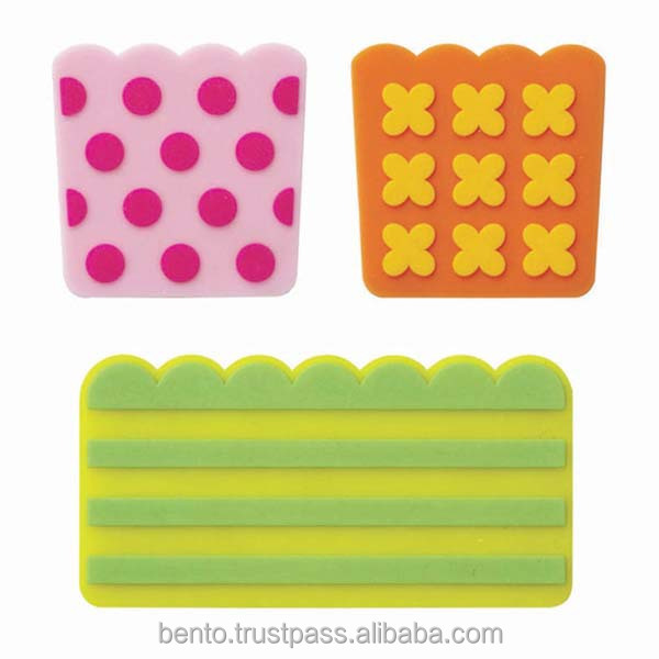 Silicone Baran Pop/reusable, microwavable, bento tools, bento accessories, food divider