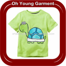 Children's wear kids cheap custom organic cotton fashion short sleeve lovely printed t shirt