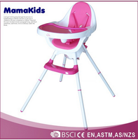 2015 hot selling high back dining room chair covers baby high chair