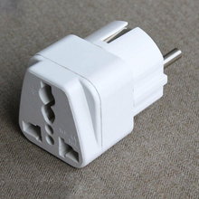 Top Quality Universal to Europe Germany France Belgium Latvia Power Plug Travel Adapter