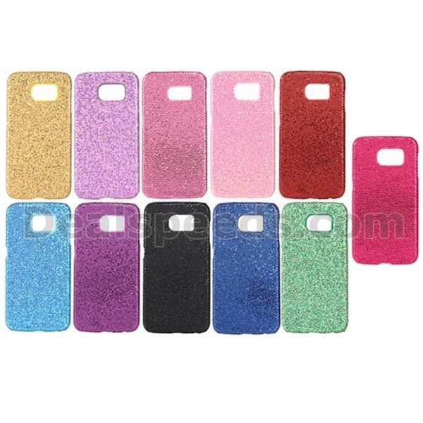 Solid Color Flash Glitter Case for Samsung Galaxy S7 Edge Shinning Case, Shinny Cover