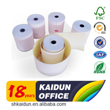 2017 style selling 3 ply 60gsm carbonless paper roll