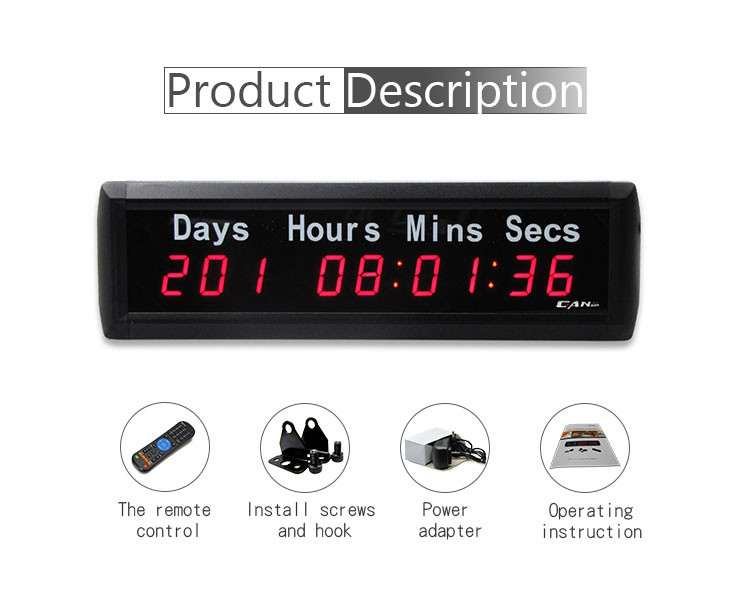 [GANXIN] Wholesale electronic  Clockoutdoor christmas countdown clock Led days
