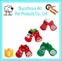 Lovely Cartoon Paw Protector Pet Dog Socks Antislip Cotton Warm Dog Christmas Stockings