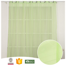 2017 Hot Design 100% Polyester Green Grommets Sheer Curtain 3d lamba