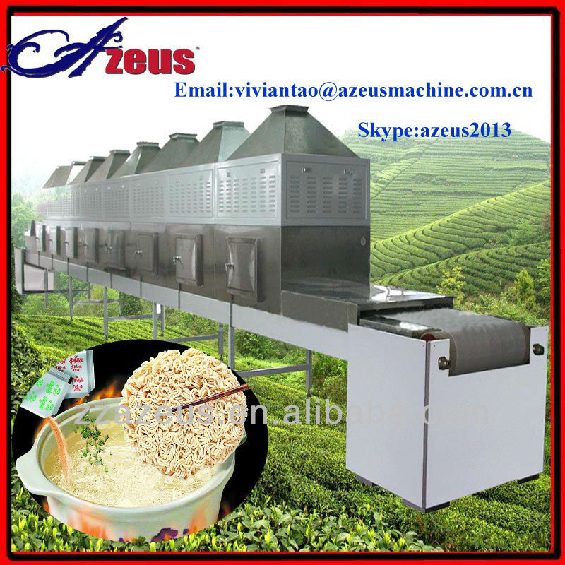 AUSD-2 Industrial microwave tunnel dryer and sterilizer for noodle and lunch box