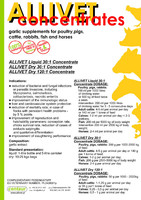 ALLIVET GARLIC 120:1 dry concentrate - 50g/1000kg of feed, FOR POULTRY, PIGS, CATTLE, RABBITS, FISH AND HORSES